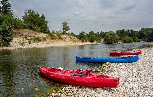 CANÖE <br>Kayak sur la rivière Drôme